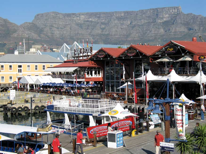 Victoria and Alfred Waterfront with the Majestic Table Mountain in the background