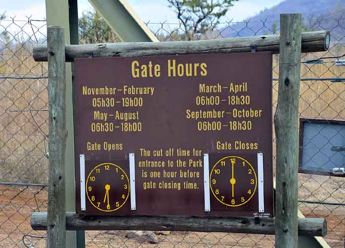 Pilansberg National Park Gate Hours