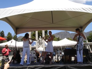 Concert at the Franschhoek Champagne Festival