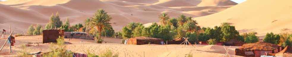 Page Banner - a Morocco Bedouin camp