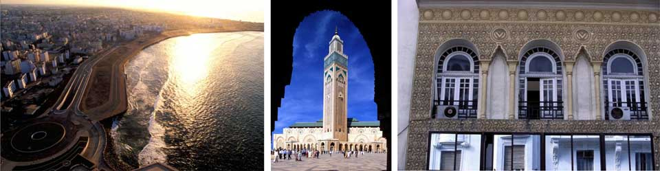 Casablanca, Morocco - photo collage