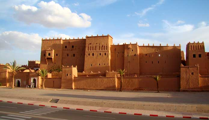 Kasbah Taourirt on Avenue Mohammed V in Ouarzazate