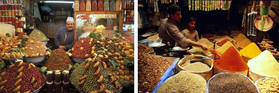 Exotic spices at a Morocco Souk (market)