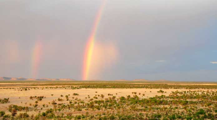 Rainbow over the Western Etosha National Park