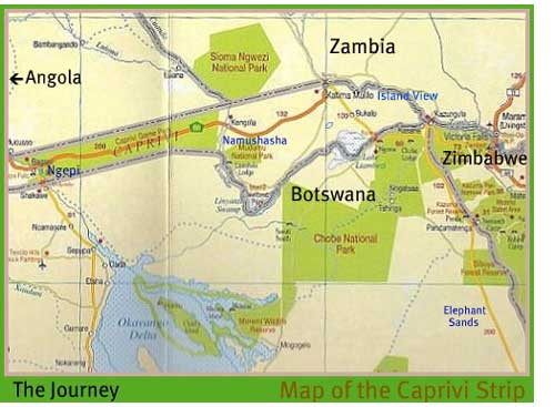 Map - Northern Botswana and Caprivi, Namibia