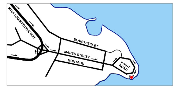 Map - directions to Point Hotel