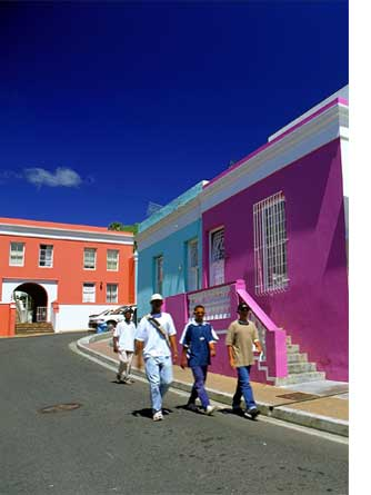 Bo-Kaap's colourful houses, Cape Town, South Africa