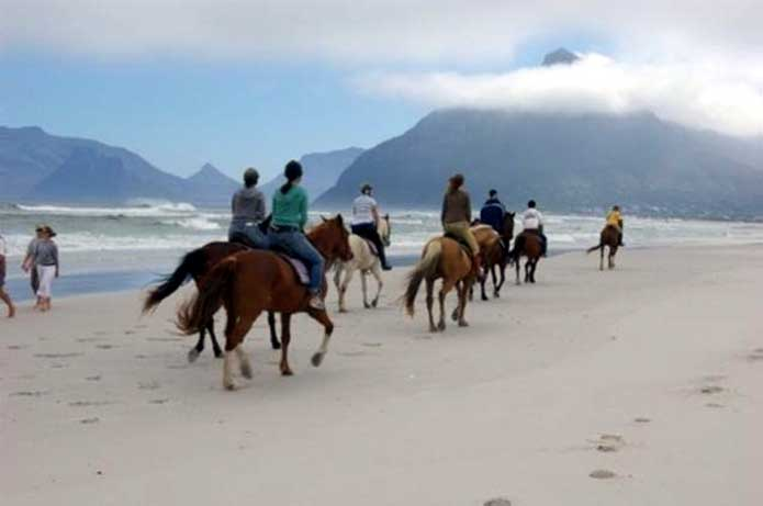 Horseback riding on Noordhoek Beach, Cape Town