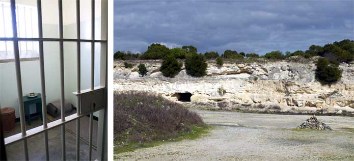 Robben Island - Nelson Mandela's cell and lime quarry