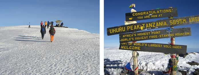 Approaching the summit of Kilimanjaro